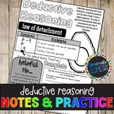 Deductive Reasoning Doodle Guide & Practice Worksheet, Law of Detachment