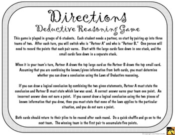 Deductive Reasoning Game