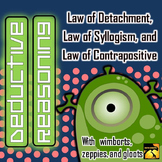 Deductive Reasoning: Laws of Detachment, Syllogism, and Contrapositive
