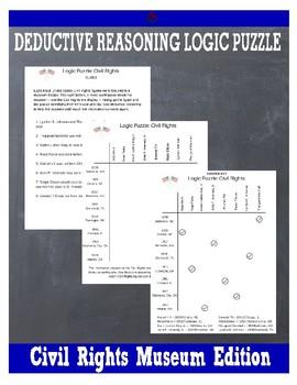 Deductive Reasoning Logic Puzzle: Civil Rights Museum Edition