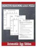 Deductive Reasoning Logic Puzzle: Automobile App Edition