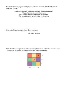 Deductive Reasoning Worksheet