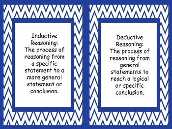 Deductive and Inductive Reasoning Game