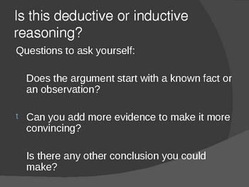 Deductive vs. Inductive Reasoning