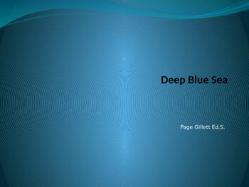 Deep Blue Sea Study Guide for Georgia Elementary Science Olympiad
