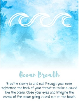 Deep Breathing Techniques: Book, Bracelets, and Cards