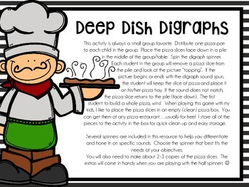 Deep Dish Digraphs (Small Group Phonics Activity)