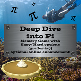 Deep Dive into Pi Day - Easy/Hard options (4th through 7th grade)