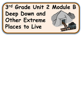 Deep Down and Other Extreme Place to Live 3rd Grade Unit 2