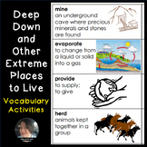 Deep Down and Other Extreme Places to Live Vocabulary