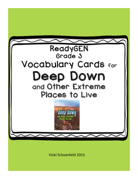 ReadyGEN Vocabulary Deep Down and Other Extreme Places to Live