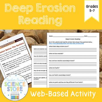 Deep Erosion Web-Quest Reading Activity