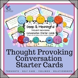 Deep & Meaningful Conversation Starter Cards - Therapy Intervention - Teenagers