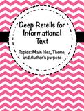 Deep Retells - Informational Text!