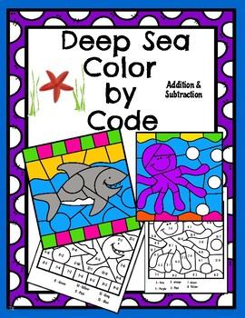 Deep Sea Color by Code Math!