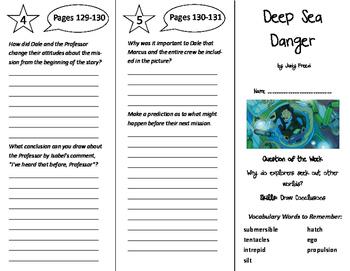 Deep Sea Danger Trifold - Reading Street 6th Grade Unit 4 Week 4