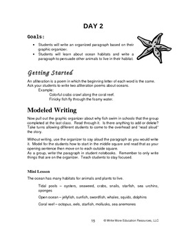 Deep Sea Explorations - An Integrated Writing Activities and Science Unit