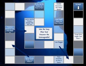 Deep Sea Game Board Template