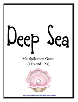 Deep Sea: Math Multiplication Board Game (Mulitiply with 11 and 12)