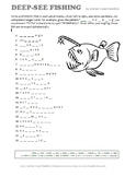 'Deep-See' Fishing Vocabulary Puzzle