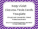 Deep Violet Chevron Task Card/Scoot Card Templates