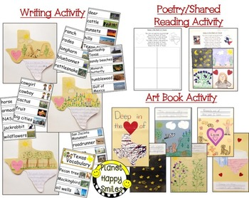 Texas Activities ~ Deep in the Heart of Texas Reading, Writing, Poetry, & Art