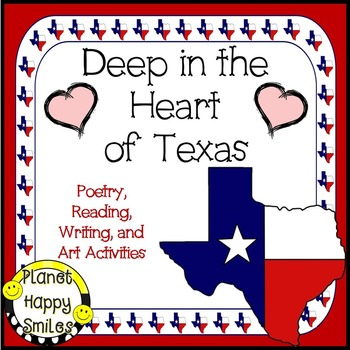 Texas Activities ~ Deep in the Heart of Texas Reading & Writing, Planet Happy Smiles