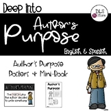 Deep into Author's Purpose - English and Spanish