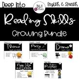 Deep into Reading Skills Growing Bundle -English & Spanish
