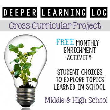 Deeper Learning Log: FREE Cross-Curricular Extension Project