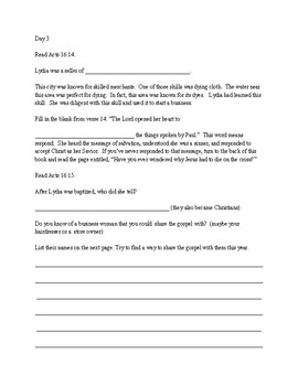 Deeper Roots Bible Study for Preteens - Lydia