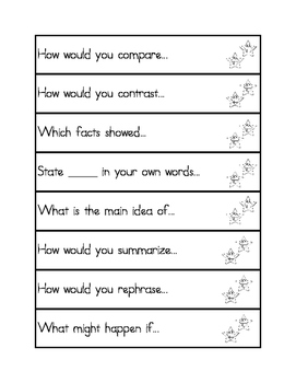 Deeper Thinking Question Stems