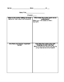 Deeper Thinking Questions Organizer Common Core