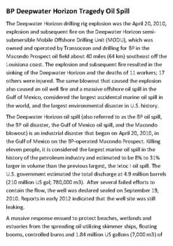 Deepwater Horizon Handout