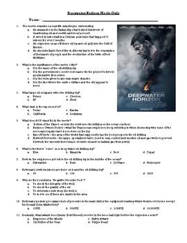 Deepwater Horizon Movie Quiz