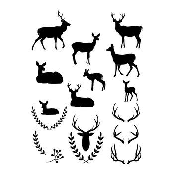 deer clipart white deer silhouette black deer graphics christmas