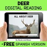 Deer Reading Comprehension for Google Classroom - Distance