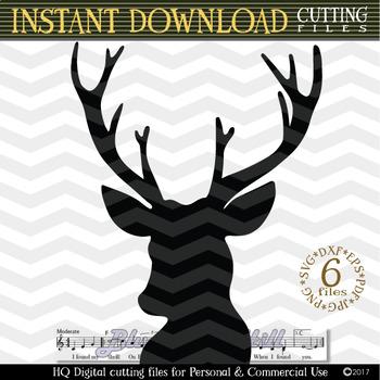 Deer Head SVG - Deer Cut Files SVG - Deer SVG - Cutting File - Xmas svg