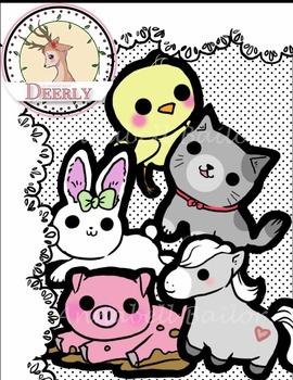 Deerly Animal Clip Art