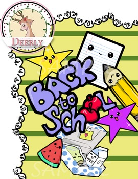 Deerly Back to school Clip Art
