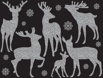 Deers Clipart - Digital Vector Deers, Silhouette, Deers Clipart