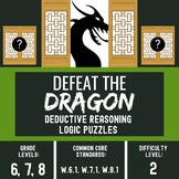 ELA Center Activity - Critical Thinking Activities - Defeat the Dragon #2