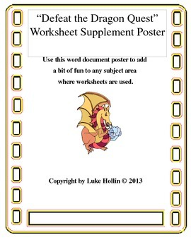 Defeat the Dragon Quest Worksheet Supplement
