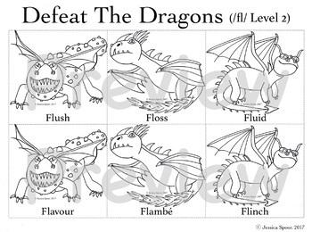 Defeat the Dragons: An Articulation Activity (Money-Saving Bundle)