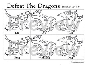 Defeat the Dragons: An Articulation Activity for /k, g/