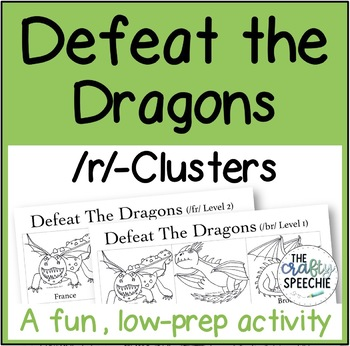 Defeat the Dragons: An Articulation Activity for  /r/-Clusters