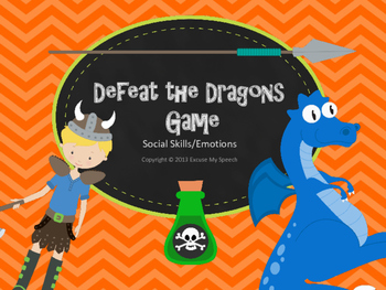 $$Dollar Deal$$$  Defeat the Dragons GAME - Social Skills and Emotions