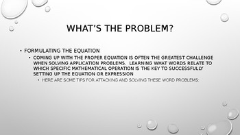 Defeating Word Problems