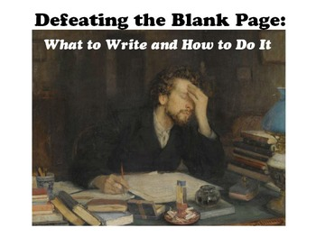 Defeating the Blank Page: Poetry Writing Assignment for Beating Writer's Block
