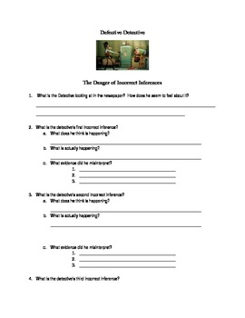 Defective Detective Inferencing Worksheet
